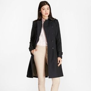 Brooks Brothers Navy Blue Peacoat Trench Coat Minimalist Classic MSRP 598
